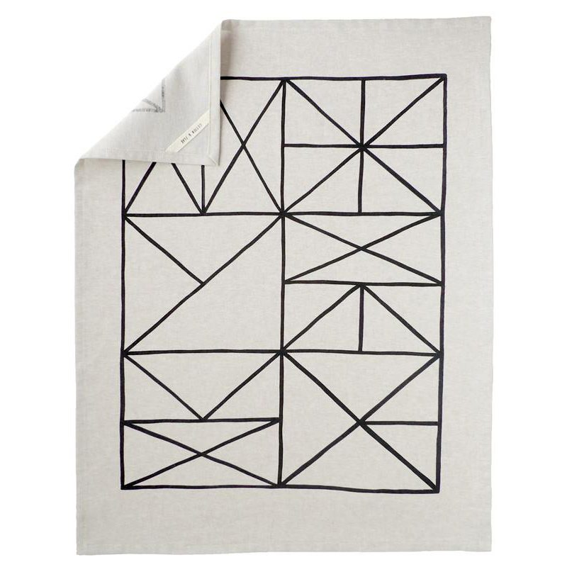 Grid Linen Tea Towel