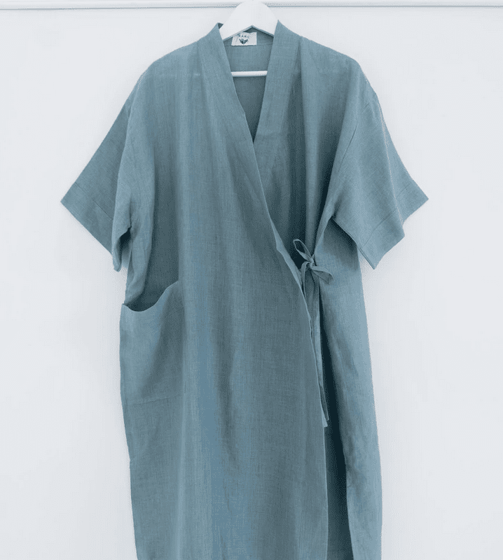 modern beach house- shop karu sky linen robe