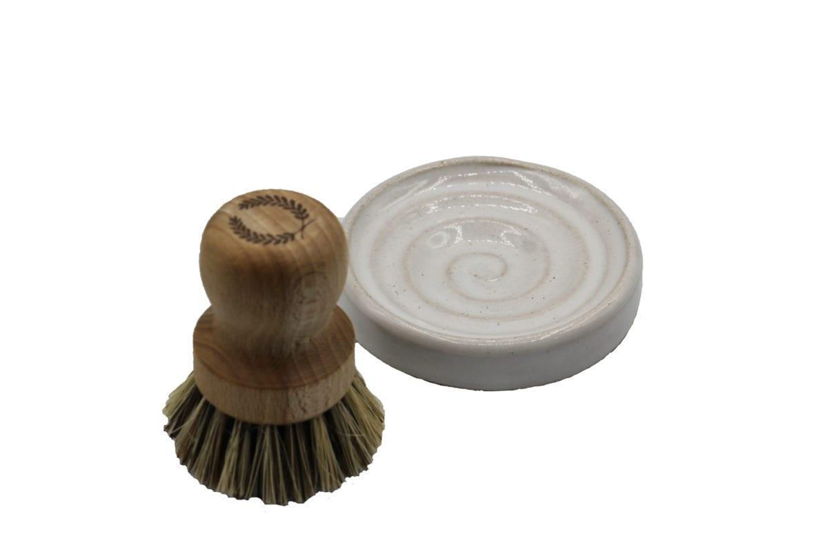 Farmhouse Pottery Laurel Pot Brush Set